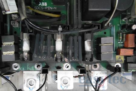 Riparazione azionamento Abb DCS800 bruciato